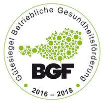 BGF Gütesiegel 2016-2018 © Archiv