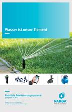 PARGA Preisliste Bewässerungssysteme 2017/18 © Archiv