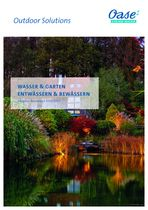 Oase Wasser u Garten Ent u Bewässern Neuheiten 2021 2022 62197 Deckblatt © Archiv