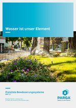 PARGA Bewässerungssysteme Preisliste 21 © Archiv